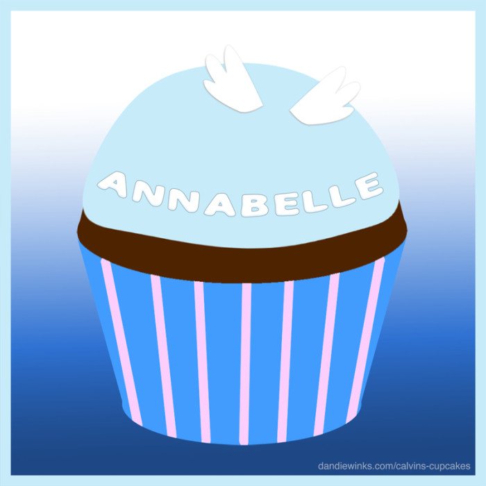 Annabelle's remembrance cupcake
