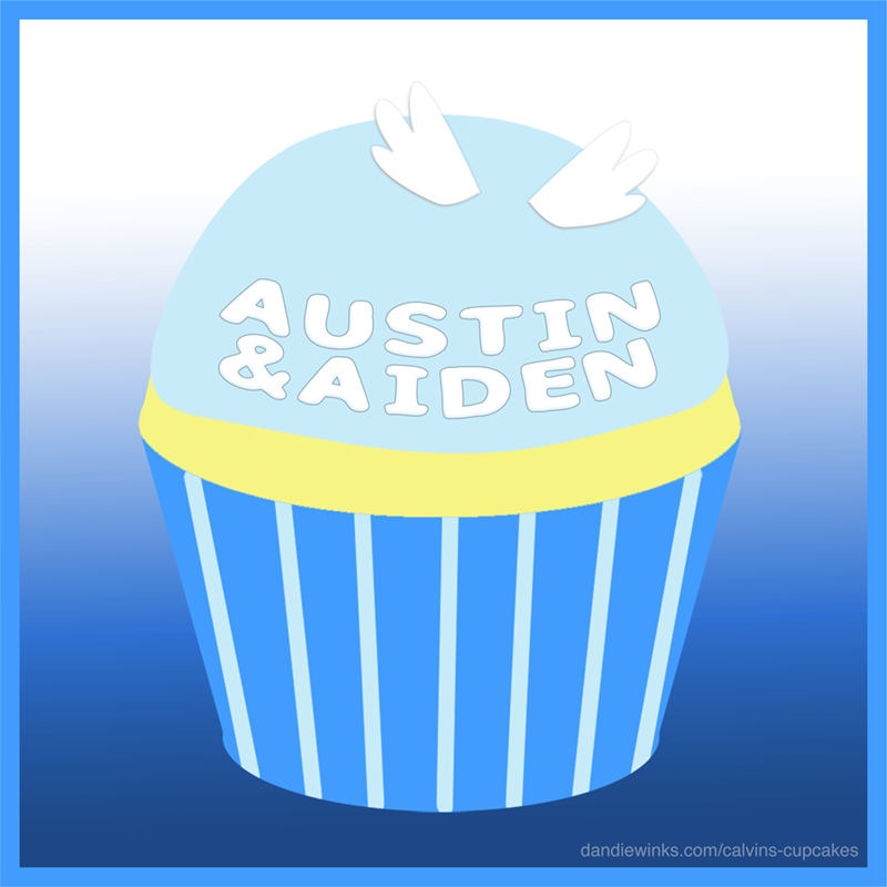 Austin & Aiden's remembrance cupcake