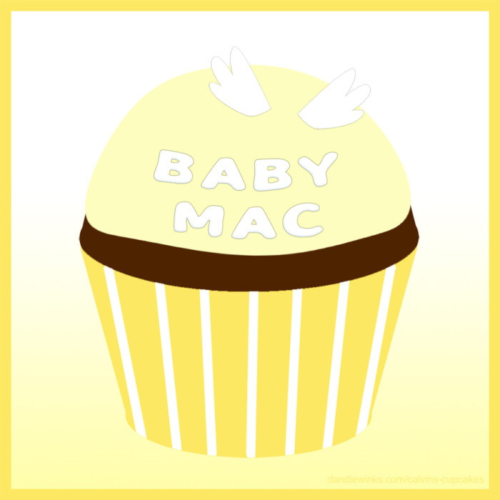 Baby Mac's remembrance cupcake