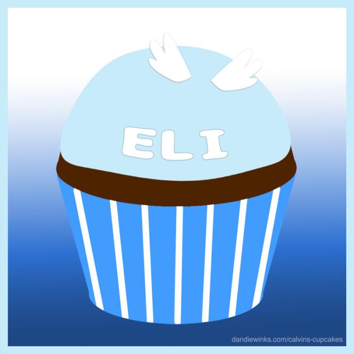 Eli's remembrance cupcake