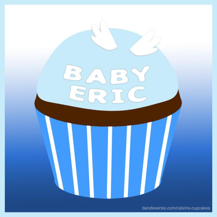 Eric Houdashelt II's remembrance cupcake