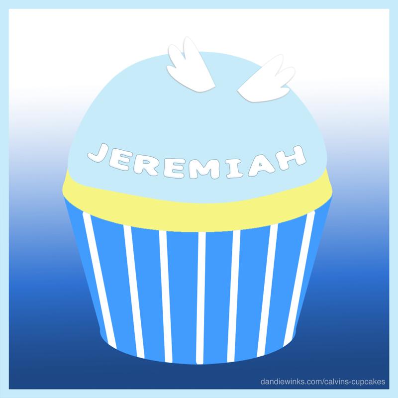 Jeremiah's remembrance cupcake
