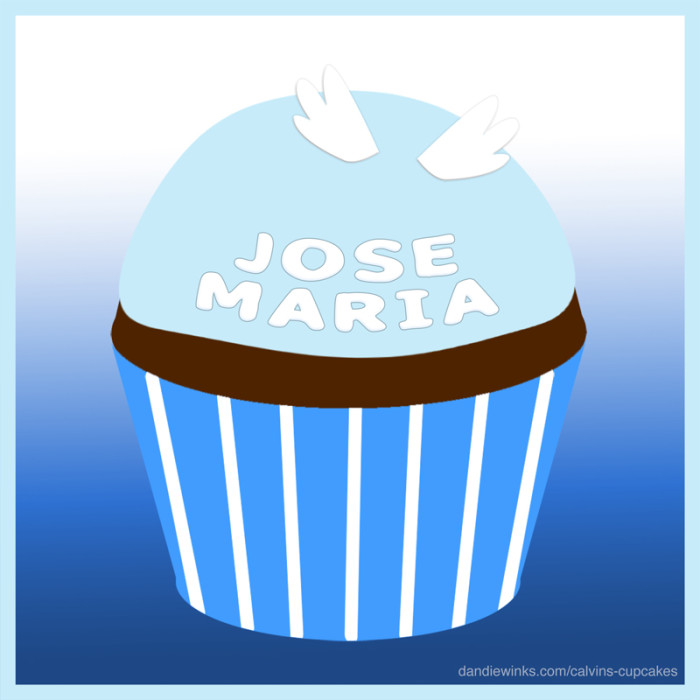 Jose Maria's remembrance cupcake