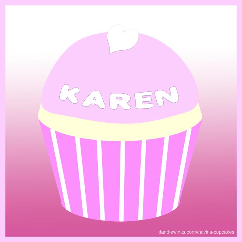 Karen's remembrance cupcake