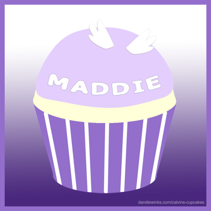 Maddie's 7th remembrance cupcake