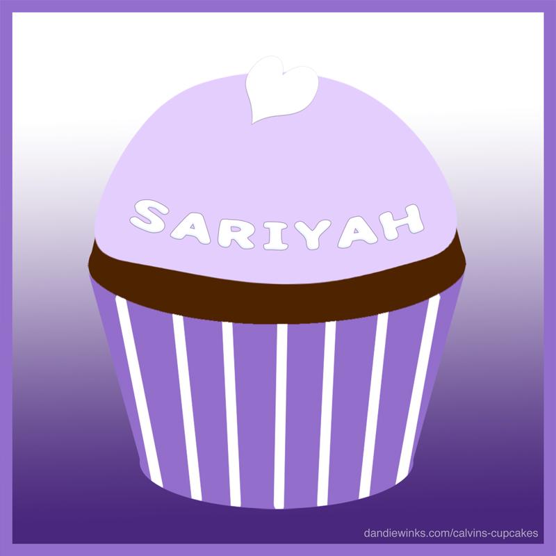 Sariyah Love Arredondo's remembrance cupcake