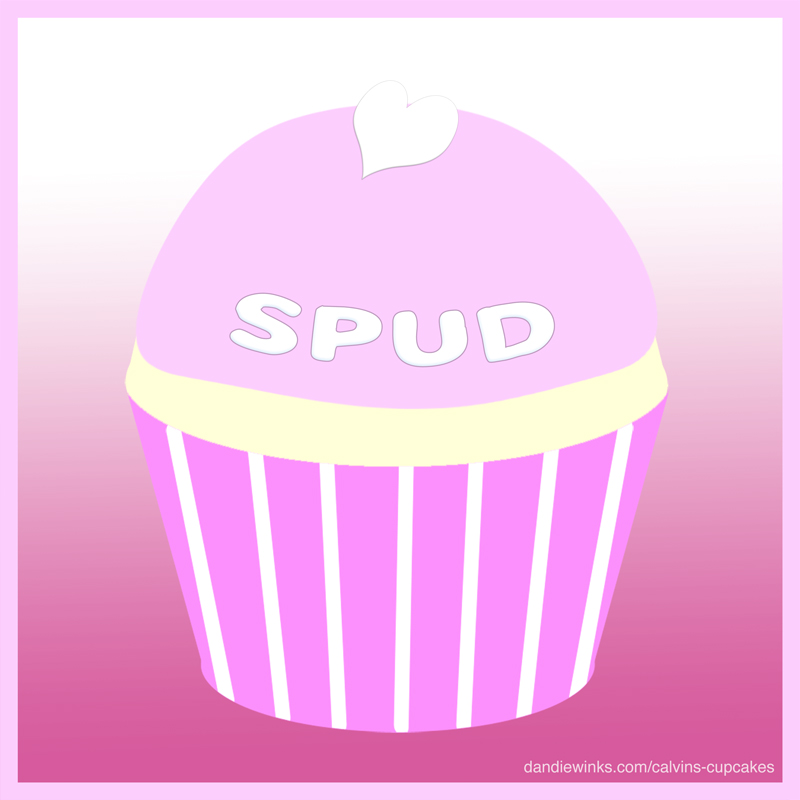 Spud's remembrance cupcake