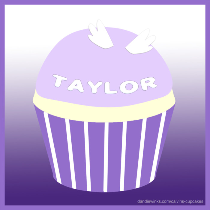 Taylor's remembrance cupcake