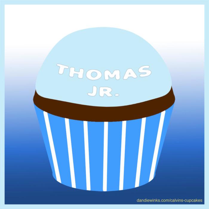 Thomas Jr.'s remembrance cupcake