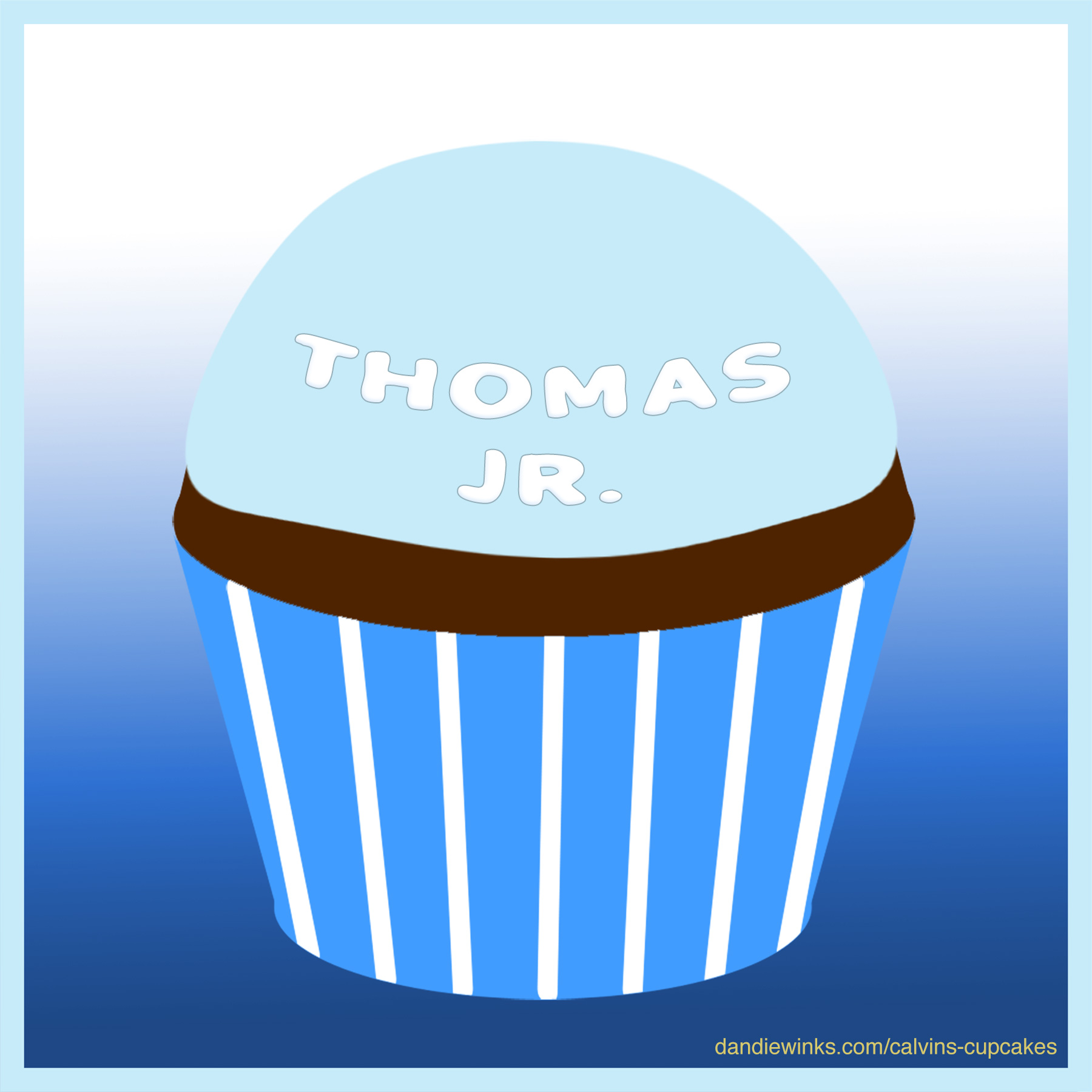 Thomas Jr.'s remembrance cupcake