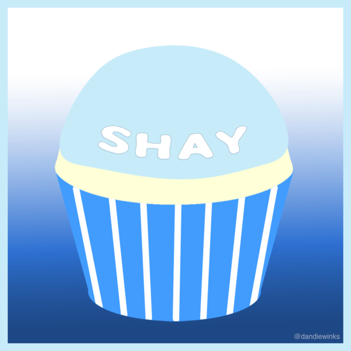 Shay's remembrance cupcake