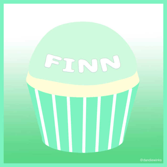 Finnegan Sweeney Bullock's remembrance cupcake from his mother Elizabeth Driggers