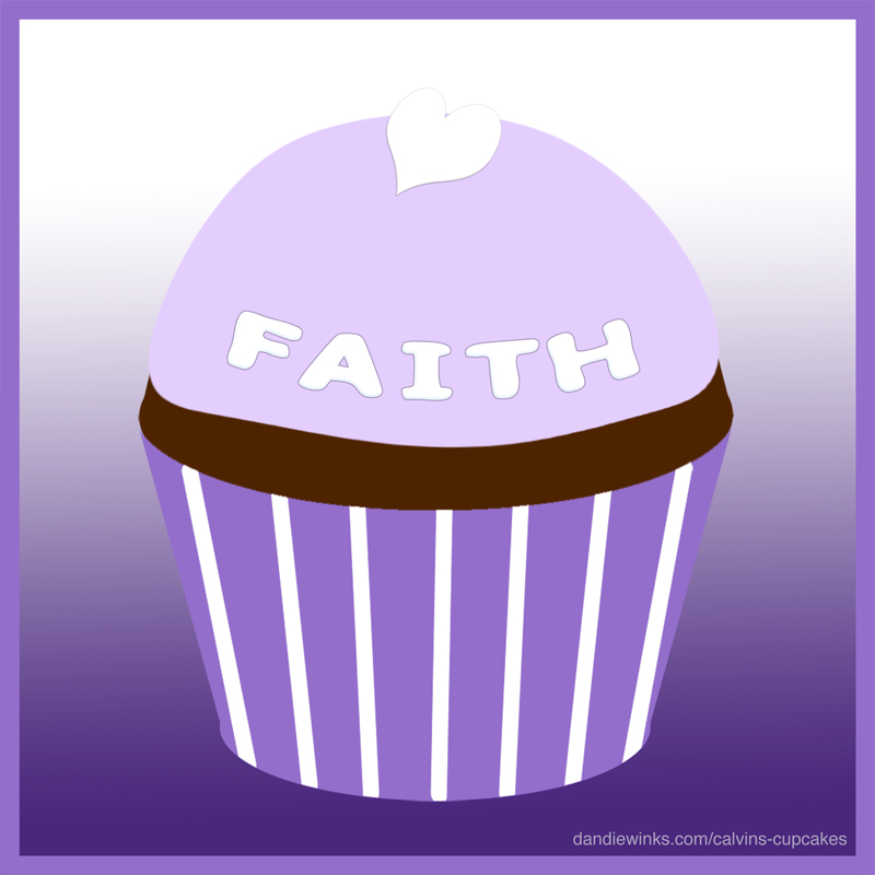 Faith Lynn Jenkins's remembrance cupcake from her mother Stephanie