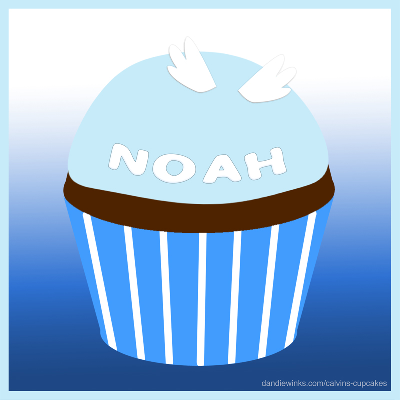Noah da Costa's remembrance cupcake from his parents Gina and Kevin